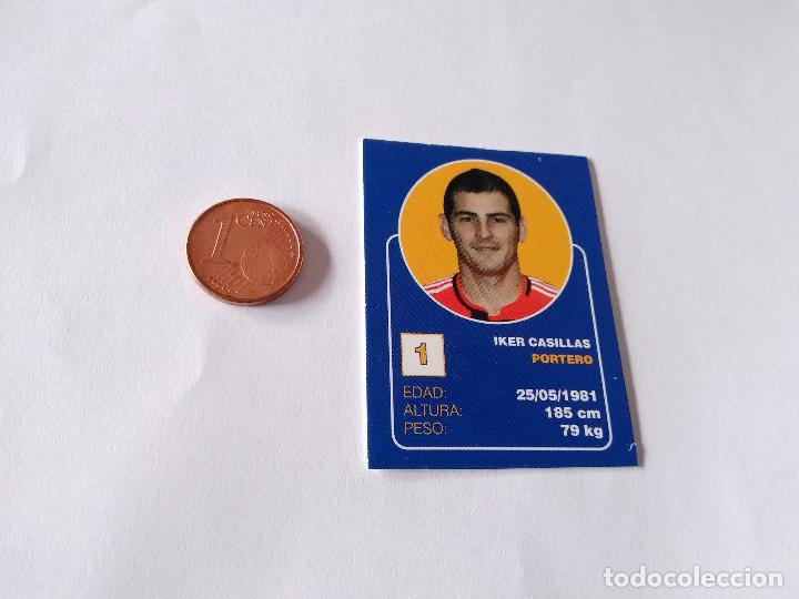 IKER CASILLAS - CROMO MINI CARTA REAL MADRID 07-08 LIGA FÚTBOL 2007-2008 (Coleccionismo Deportivo - Álbumes y Cromos de Deportes - Cromos de Fútbol)