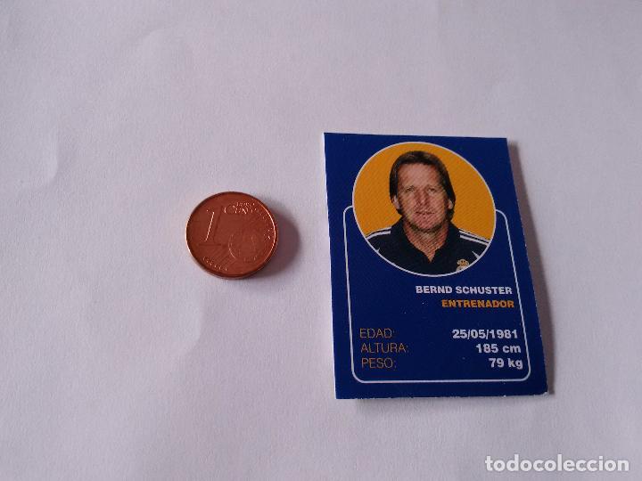 BERND SCHUSTER - CROMO MINI CARTA REAL MADRID 07-08 LIGA FÚTBOL 2007-2008 (Coleccionismo Deportivo - Álbumes y Cromos de Deportes - Cromos de Fútbol)