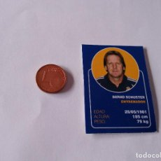 Cromos de Fútbol: BERND SCHUSTER - CROMO MINI CARTA REAL MADRID 07-08 LIGA FÚTBOL 2007-2008. Lote 194356002