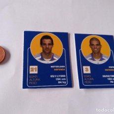 Cromos de Fútbol: METZELDER Y PEPE - LOTE 2 CROMOS MINI CARTAS REAL MADRID 07-08 LIGA FÚTBOL 2007-2008. Lote 194356261