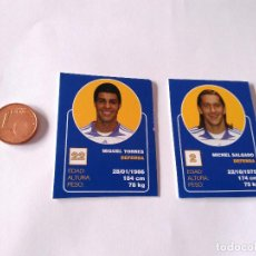 Cromos de Fútbol: MIGUEL TORRES Y MICHEL SALGADO - LOTE 2 CROMOS MINI CARTAS REAL MADRID 07-08 LIGA FÚTBOL 2007-2008. Lote 194356360