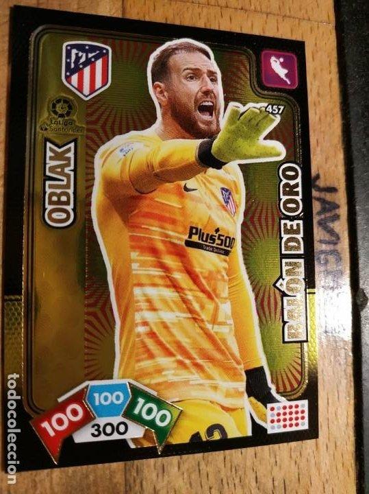 ADRENALYN 2019 2020 BALON DE ORO Nº 457 OBLAK ATLETICO DE MADRID (Coleccionismo Deportivo - Álbumes y Cromos de Deportes - Cromos de Fútbol)