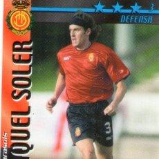 Cromos de Fútbol: MIQUEL SOLER (R.C.D. MALLORCA) - FUTBOL MATCH TOTAL - LIGA 2002/2003 - MAGIC BOX INT.. Lote 194378947