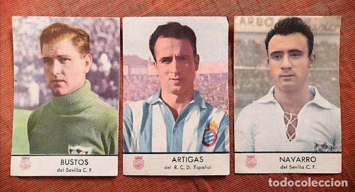 LOTE 3 CROMOS CASTELLBLANCH SEGUNDO CONCURSO 1953 (Coleccionismo Deportivo - Álbumes y Cromos de Deportes - Cromos de Fútbol)