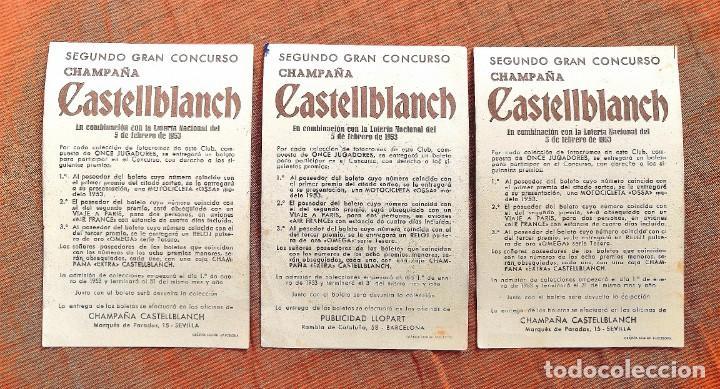 Cromos de Fútbol: LOTE 3 CROMOS CASTELLBLANCH SEGUNDO CONCURSO 1953 - Foto 2 - 194380930