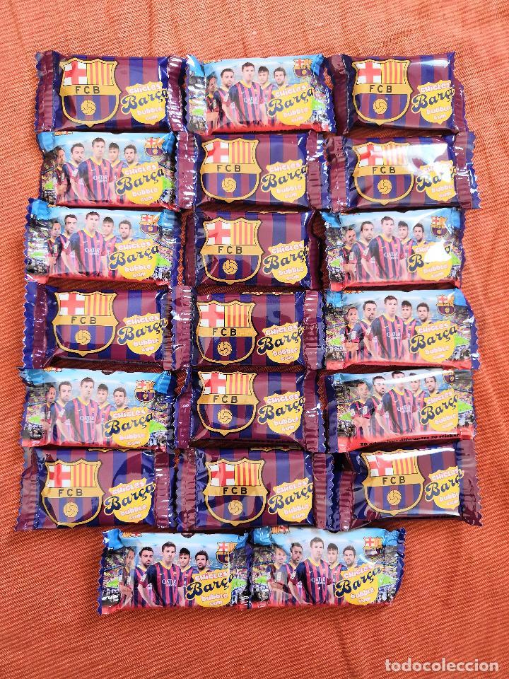 LOTE 20 CHICLES CON ADHESIVOS COLECCION BARÇA BUBBLE GUM (Coleccionismo Deportivo - Álbumes y Cromos de Deportes - Cromos de Fútbol)