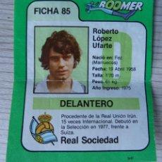 Cromos de Fútbol: CROMO BOOMER FICHA DE LA LIGA - LOPEZ UFARTE Nº 85 - REAL SOCIEDAD. Lote 194522433