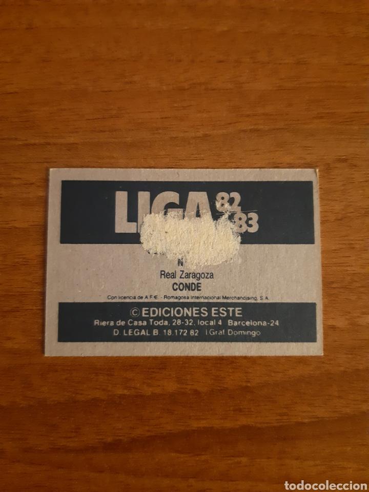 Cromos de Fútbol: Fichaje 5 Conde (Zaragoza) Versión difícil Liga 82-83 ESTE. Recuperado - Foto 2 - 194537830
