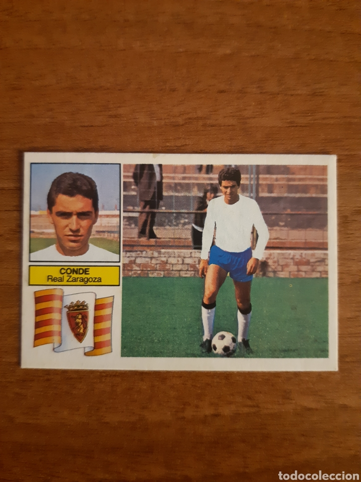 FICHAJE 5 CONDE (ZARAGOZA) VERSIÓN DIFÍCIL LIGA 82-83 ESTE. RECUPERADO (Coleccionismo Deportivo - Álbumes y Cromos de Deportes - Cromos de Fútbol)
