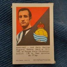 Cromos de Fútbol: 70 71 FHER REAL SOCIEDAD MARTÍNEZ . Lote 194541183