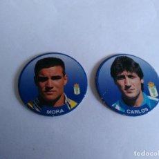 Cromos de Fútbol: Nº 94 MORA Y Nº 77 CARLOS MUÑOZ, REAL OVIEDO - LOTE 2 SPORT TAZO 1994-1995 LIGA FÚTBOL 94-95. Lote 194541331