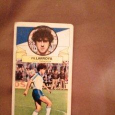 Cromos de Fútbol: VILLARROYA 85-86. BAJA. REAL ZARAGOZA. MUY DIFÍCIL. SIN PEGAR. Lote 194542446