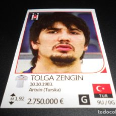 Cromos de Fútbol: 177 TOLGA ZENGIN BESIKTAS JK STICKERS UEFA CHAMPIONS LEAGUE TOP24 RAFO 16 17 2016 2017. Lote 194583908