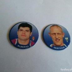 Cromos de Fútbol: Nº 78 ALBERTO, VALLADOLID Y Nº 75 DERTYCIA, ALBACETE - LOTE 2 SPORT TAZO 1994-1995 LIGA FÚTBOL 94-95. Lote 194596343