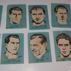 Cromos de Fútbol: 9 CROMOS REAL MADRID,LIGA 51-52,CHOCOLATES EL LINCE Y MADAM. Lote 194621731