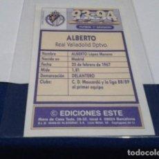 Cromos de Fútbol: CROMO EDICIONES ESTE LIGA 93 94 1993 1994 RECUPERADO ( ALBERTO ) REAL VALLADOLID. Lote 194625550