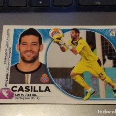Cromos de Fútbol: 1 CASILLA. ESPANYOL. LIGA ESTE 2014 2015. Lote 194643073