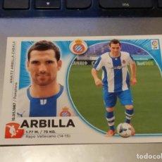 Cromos de Fútbol: 4 ARBILLA. ESPANYOL. LIGA ESTE 2014 2015. Lote 194643151