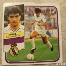 Cromos de Fútbol: MICHEL REAL MADRID LIGA 89 90 CROMO NUNCA PEGADO . Lote 194647985