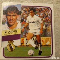 Cromos de Fútbol: MARTIN VAZQUEZ REAL MADRID LIGA 89 90 CROMO NUNCA PEGADO . Lote 194648027
