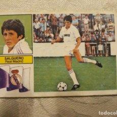 Cromos de Fútbol: SALGUERO COLOCA R. MADRID DE EDICIONES ESTE 82-83. Lote 194659135