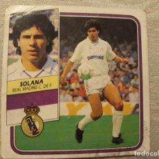 Cromos de Fútbol: SOLANA REAL MADRID NUNCA PEGADO EDICIONES ESTE 1989 1990 . Lote 194680543