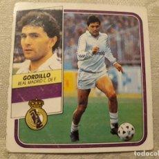 Cromos de Fútbol: GORDILLO REAL MADRID NUNCA PEGADO EDICIONES ESTE 1989 1990 . Lote 194680765