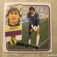 Cromos de Fútbol: AGUSTÍN REAL MADRID NUNCA PEGADO EDICIONES ESTE 1989 1990 . Lote 194681160