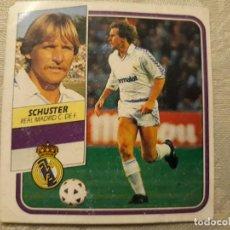 Cromos de Fútbol: SCHUSTER REAL MADRID NUNCA PEGADO EDICIONES ESTE 1989 1990 . Lote 194681307