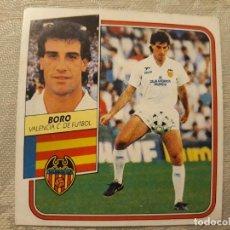 Cromos de Fútbol: BORO VALENCIA NUNCA PEGADO EDICIONES ESTE 1989 1990. Lote 194693601