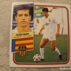 Cromos de Fútbol: FERRANDO VALENCIA NUNCA PEGADO EDICIONES ESTE 1989 1990. Lote 194693671