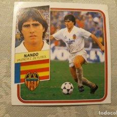 Cromos de Fútbol: NANDO VALENCIA NUNCA PEGADO EDICIONES ESTE 1989 1990. Lote 194693796
