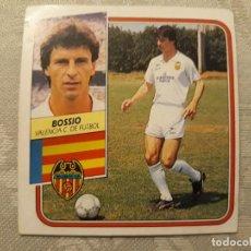 Cromos de Fútbol: BOSSIO VALENCIA NUNCA PEGADO EDICIONES ESTE 1989 1990. Lote 194693853