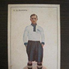 Cromos de Fútbol: ALCAZAR-C.D. EUROPA-MUEBLES BARCELONA-CROMO TAMAÑO POSTAL PUBLICIDAD ANTIGUA-(67.915). Lote 194731671