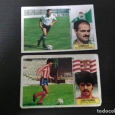 Cromos de Fútbol: EDICIONES ESTE 86/87 LUIS FLORES Y CABRILLO COLOCAS NUNCA PEGADOS. Lote 194731700