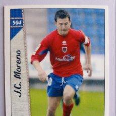 Cromos de Fútbol: 904 J.C. MORENO - C.D. NUMANCIA - 2ª DIVISIÓN - MUNDICROMO 2007. Lote 194735812