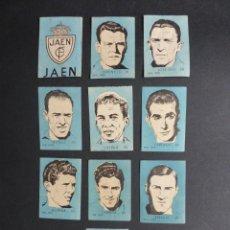 Cromos de Fútbol: 10 CROMOS FUTBOL - REAL JAEN - CHOCOLATES EL LINCE Y MADAM - AÑO 1951. Lote 194865061