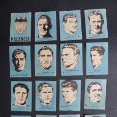 Cromos de Fútbol: 16 CROMOS FUTBOL - VALENCIA C.F. - CHOCOLATES EL LINCE Y MADAM - AÑO 1951. Lote 194865176