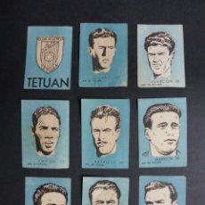 Cromos de Fútbol: 9 CROMOS FUTBOL - C. ATLETICO TETUAN - CHOCOLATES EL LINCE Y MADAM - AÑO 1951. Lote 194865308