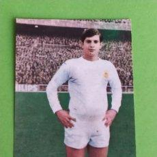 Cromos de Fútbol: REAL MADRID 14 MIGUEL PEREZ RUIZ ROMERO 1969 1970 69 70 RECUPERADO. Lote 194888603