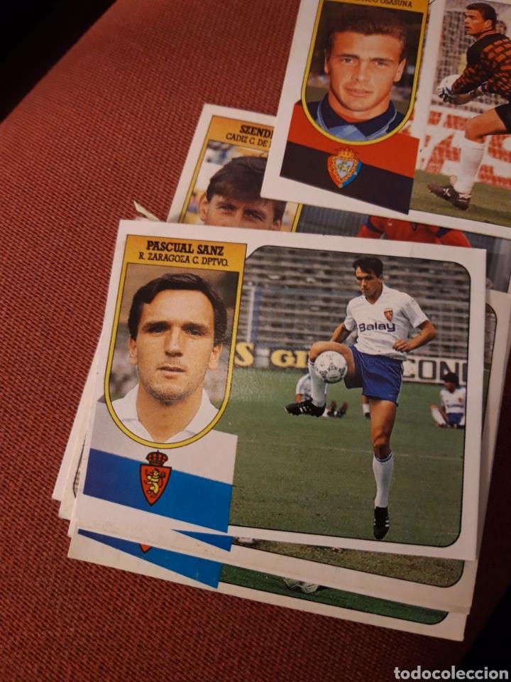 ESTE 91 92 1991 1992 DESPEGADO ZARAGOZA PASCUAL SANZ (Coleccionismo Deportivo - Álbumes y Cromos de Deportes - Cromos de Fútbol)