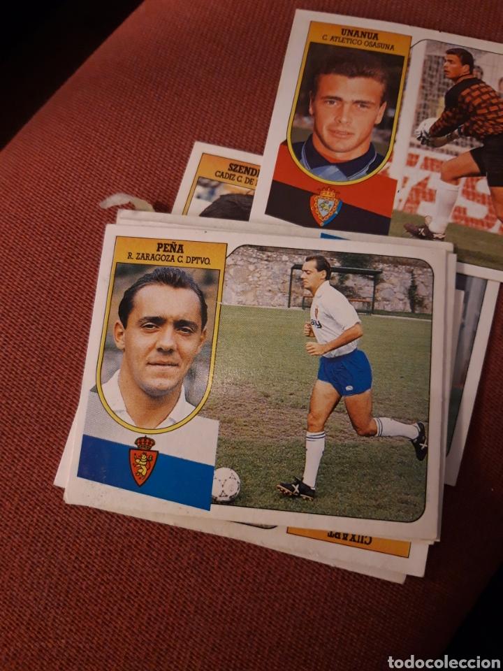 ESTE 91 92 1991 1992 DESPEGADO ZARAGOZA PEÑA (Coleccionismo Deportivo - Álbumes y Cromos de Deportes - Cromos de Fútbol)
