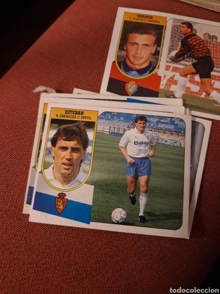 ESTE 91 92 1991 1992 DESPEGADO ZARAGOZA ESTEBAN (Coleccionismo Deportivo - Álbumes y Cromos de Deportes - Cromos de Fútbol)