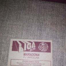Cromos de Fútbol: ED. ESTE 1984-85 MARADONA-FC BARCELONA BAJA. Lote 210705864
