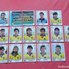 Cromos de Fútbol: FUTBOL 88 16 CROMOS CADIZ TODOS DIFERENTES RECORTADOS. Lote 194966515
