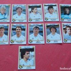 Cromos de Fútbol: FUTBOL 88 11 CROMOS R.MADRID TODOS DIFERENTES RECORTADOS. Lote 194966951