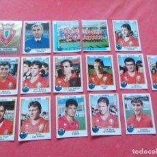 Cromos de Fútbol: FUTBOL 88 16 CROMOS OSASUNA TODOS DIFERENTES RECORTADOS. Lote 194967120