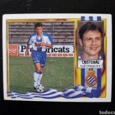 Cromos de Fútbol: CRISTÓBAL RCD ESPAÑOL. ESTE 95-96 1995-1996. SIN PEGAR. VER FOTOS DE FRONTAL Y TRASERA. Lote 194985840