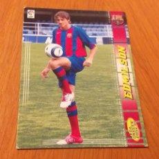Cromos de Fútbol: MEGACRACKS 2004 2005 NUEVO FICHAJE EDMILSON BARCELONA 04 05. Lote 195031242
