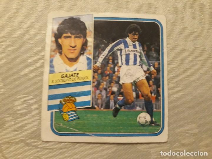 GAJATE REAL SOCIEDAD NUNCA PEGADO ED ESTE LIGA 89 90 1989-90 (Coleccionismo Deportivo - Álbumes y Cromos de Deportes - Cromos de Fútbol)